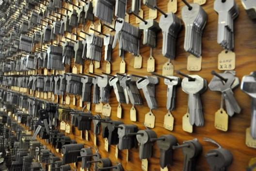 wall of keys - Gforce Lock & Safe