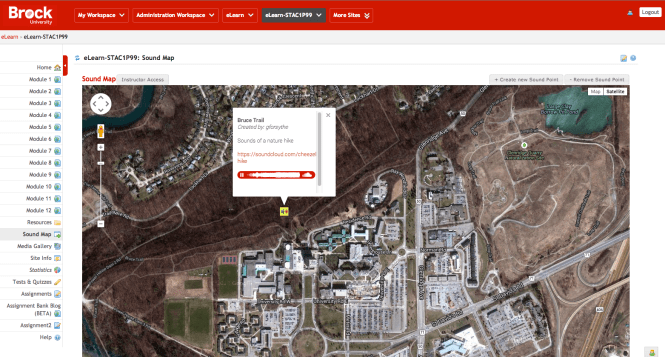 Sound-Google Map integrated into LMS