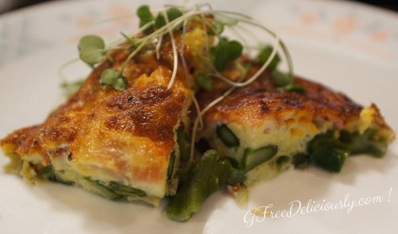 Crustless Ham, Cheese & Asparagus Quiche