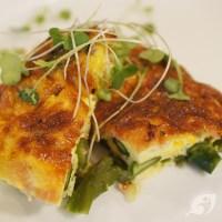 Crustless Blue Cheese, Asparagus and Ham Quiche