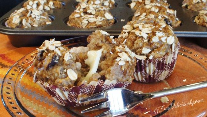 Gluten-Free Cranberry, Toasted Walnut & Oatmeal Muffins