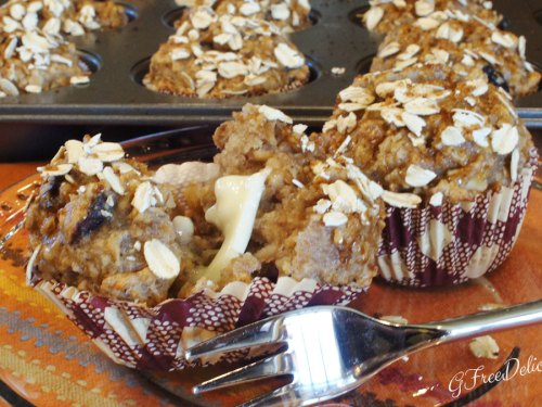Gluten-Free Cranberry, Toasted Walnut & Oatmeal Muffins