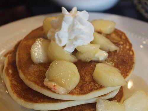 Gluten-Free Super Tasty Donut Peach Pancakes