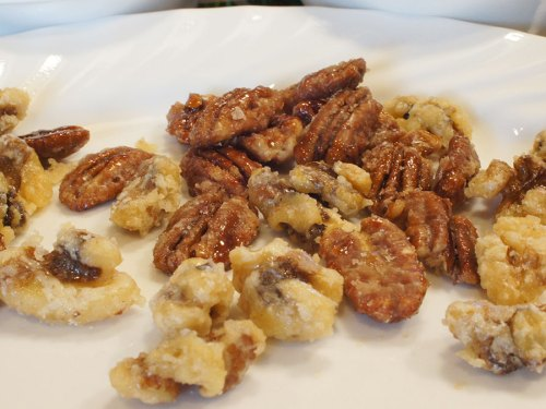 Quick Candied Nuts on the Stovetop