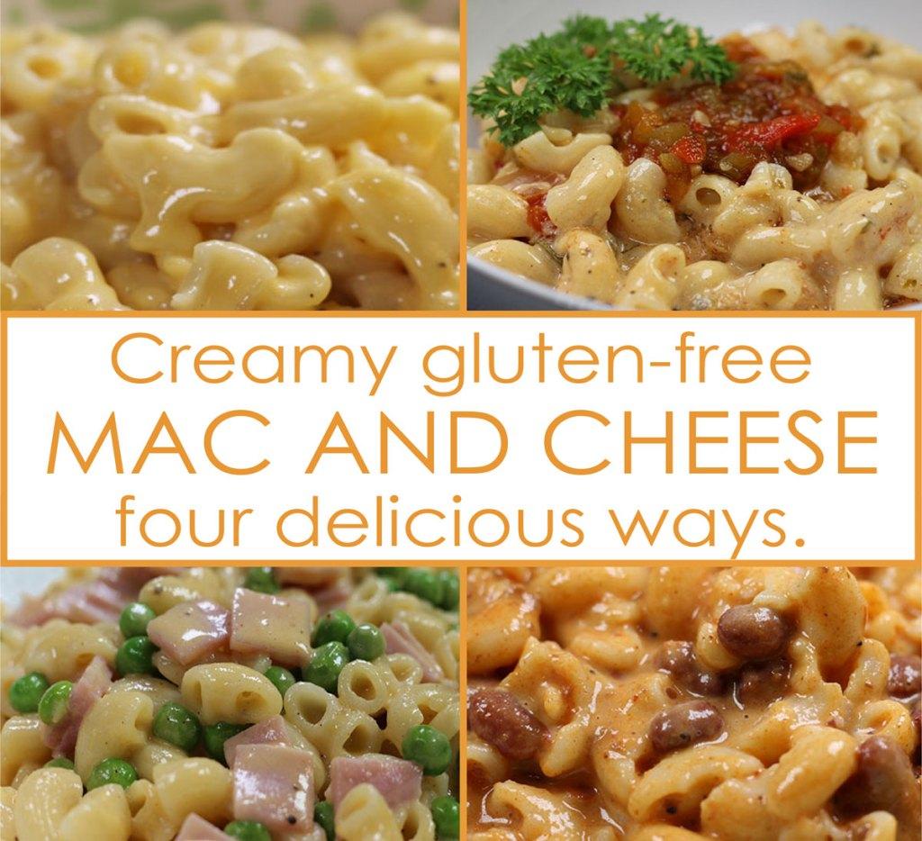 Creamy Gluten-Free Mac n' Cheese 4-Ways