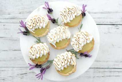 Lemon Lavender Mini Tarts