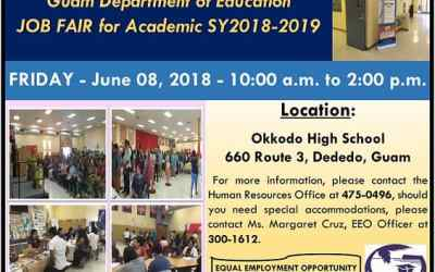 GDOE JOB FAIR JUNE 8 FOR SY2018-2019