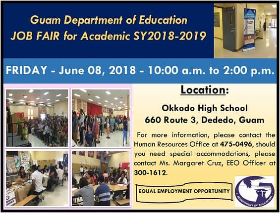 GDOE JOB FAIR JUNE 8 FOR SY2018-2019