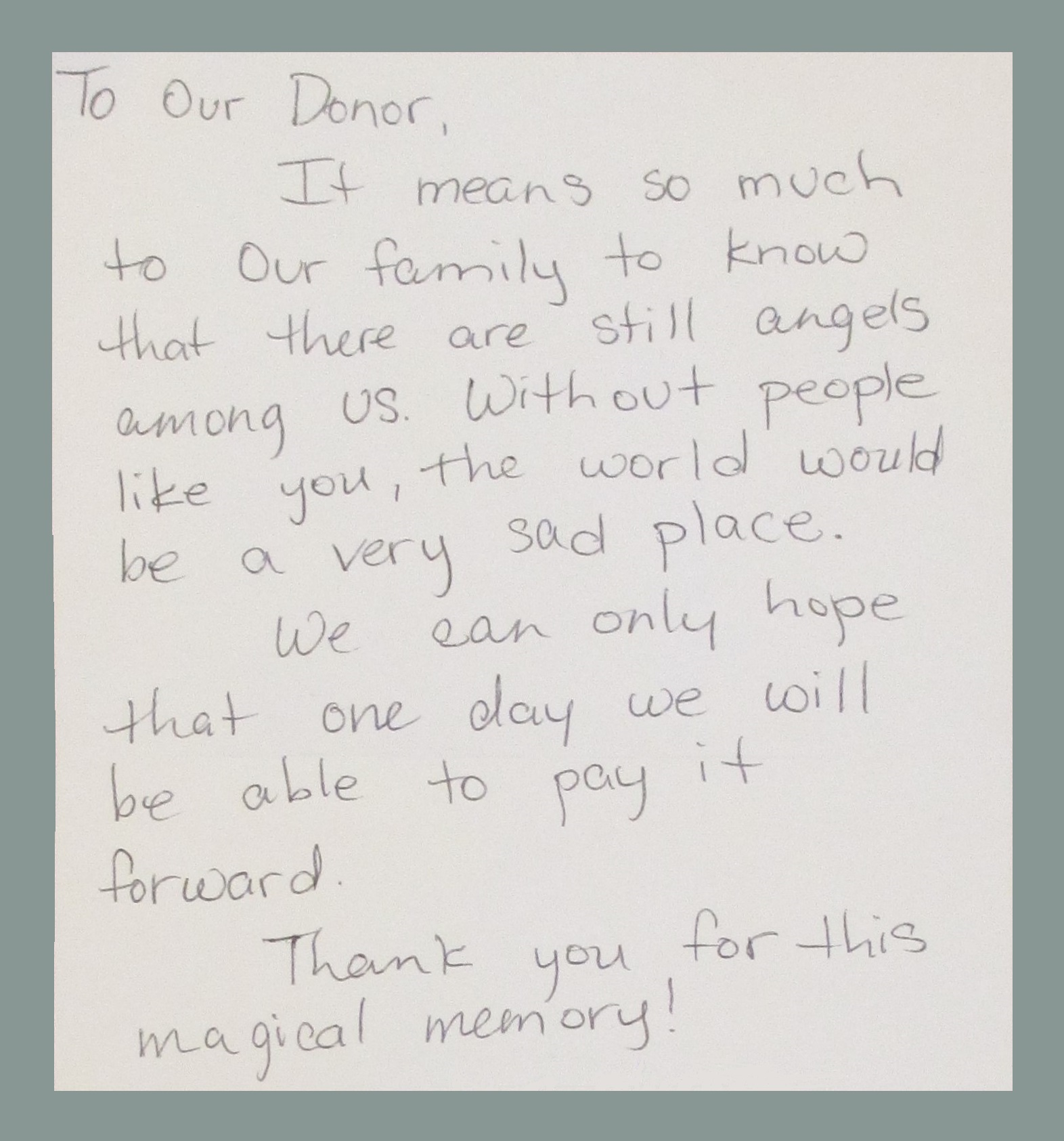Cpcd Adopted Family Thank You Letter The Woman S Club Of