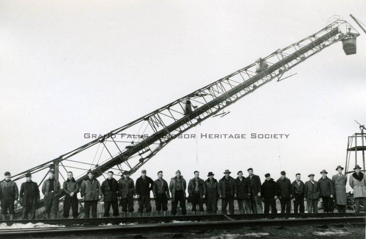 Erection of stacker. 1955