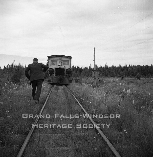 Woods Department. Millertown. Harpoon Railway. September 1956