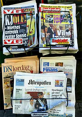 The newspaper industry is hurting all over the world, including Norway.