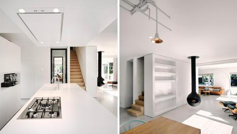 ÅPNET OPP: Hele første etasje ble åpnet opp, slik at man har fullt utsyn mot hagen fra hele etasjen. FOTO: Brandwijk & van Geel