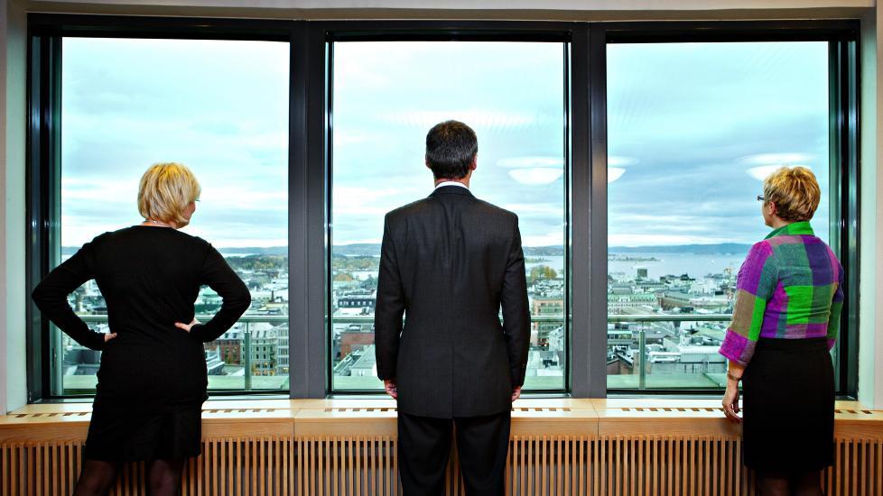 Kameratskap: Kristin Halvorsen, Jens Stoltenberg og Liv Signe Navarsete har regjert i Norge i sju år. Det merkes.
