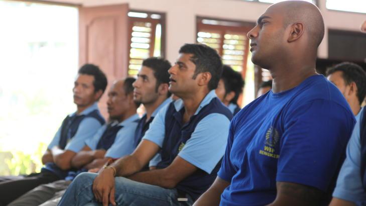FORELESNINGER: Myuran Sukumuran har sørget for gjennomføringen av filosofiforelesninger i fengselet. Foto: Privat