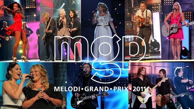 Finaleartistene i MGP 2011 (NRK)