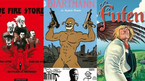 Norske tegneseriehelter (Foto: Cappelen Damm/Jippi Forlag/Serienett.no)