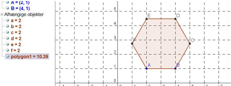 Konstruer en regulær polygon | ggbkursus.dk