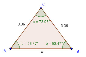 Ligebenet trekant