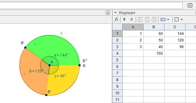 Lav Et Cirkeldiagram I Geogebra