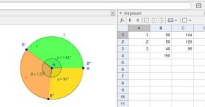 Cirkeldiagram i GeoGebra