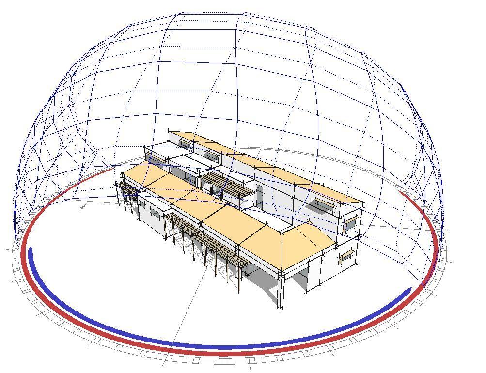 Βιοκλιματική μελέτη βρεφονηπιακού σταθμού στο Κρυονέρι – διάγραμμα ηλιακής τροχιάς