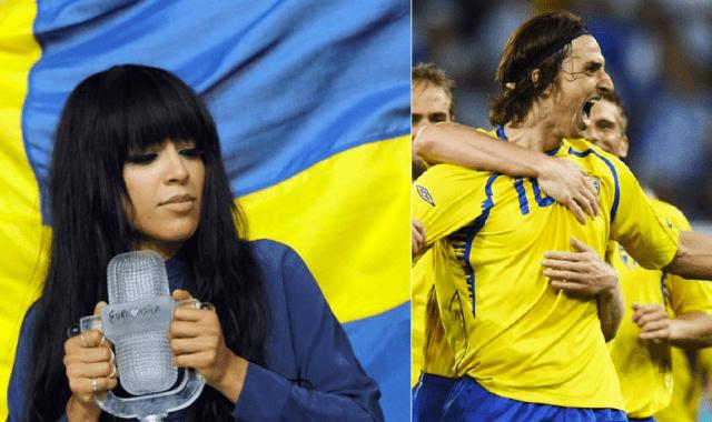 Artisten Loreen och fotbollspelaren Zlatan