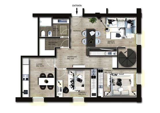 Di interni, nelle ristrutturazioni immobiliari e nella vendita di arredi. Progettazione Interni Appartamento Gg Progetti