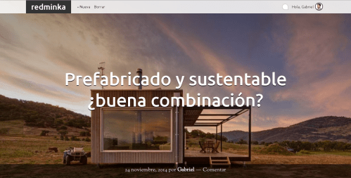 REDMINKA: Red de conocimiento sustentable. Wordpress + Buddypress + Genesis framework. http://redminka.com