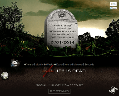 IE6 Countdown to Death