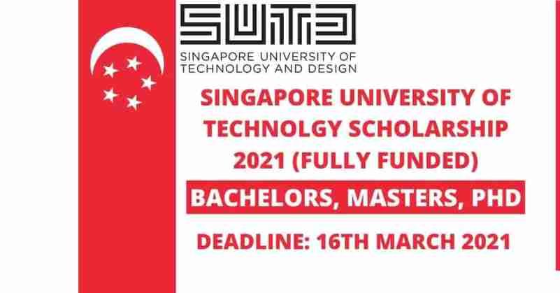 Singapore University of Technology Scholarship
