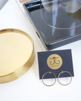Gold colour circle earrings GG UNIQUE