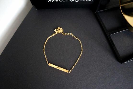 GG UNIQUE PERSONALIZED GOLD COLOUR BRACELET