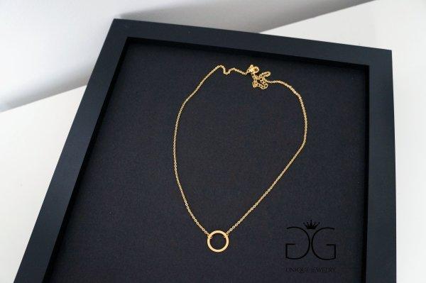 GG UNIQUE GOLD CIRCLE KARMA NECKLACE
