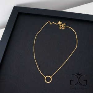 GG UNIQUE GOLD CIRCLE KARMA NECKLACE