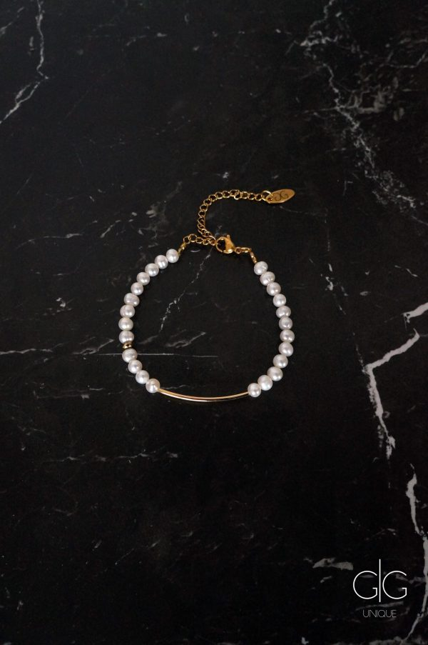 Freshwater pearls bracelet with gold plating - GG UNIQUE