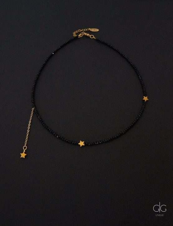 Star necklace with crystals - gg unique