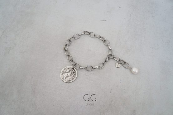 Ceasar bracelet with a freshwater pearl - gg unique