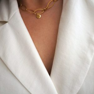 Vintage gold plated stainless steel necklace - GG UNIQUE