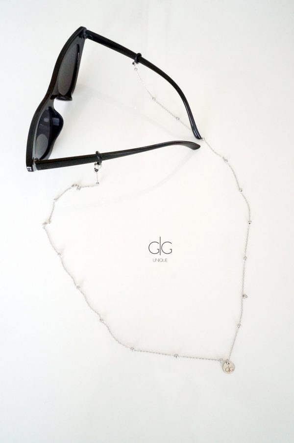 Thin stainless steel bubble glasses chain - GG UNIQUE