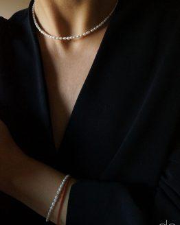 Delicate small pearl necklace - GG UNIQUE
