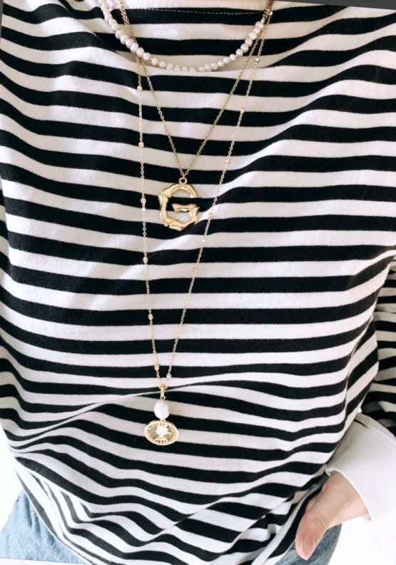 Big letter trendy gold/silver plated necklace GG UNIQUE