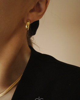Simple gold plated mini hoop earrings
