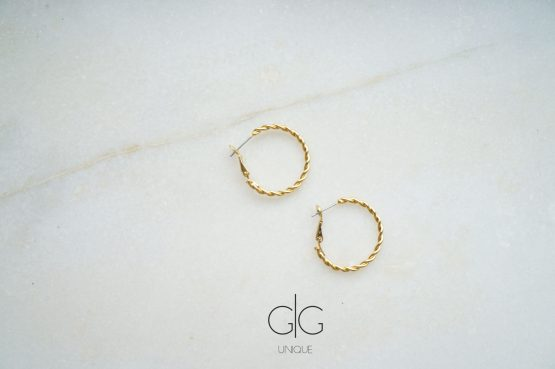 Twisted hoop earrings in gold - GG UNIQUE