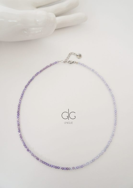 Purple ombre zircon stone necklace - GG UNIQUE