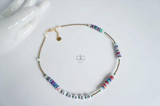 Trendy colorful LOVER necklace - GG UNIQUE