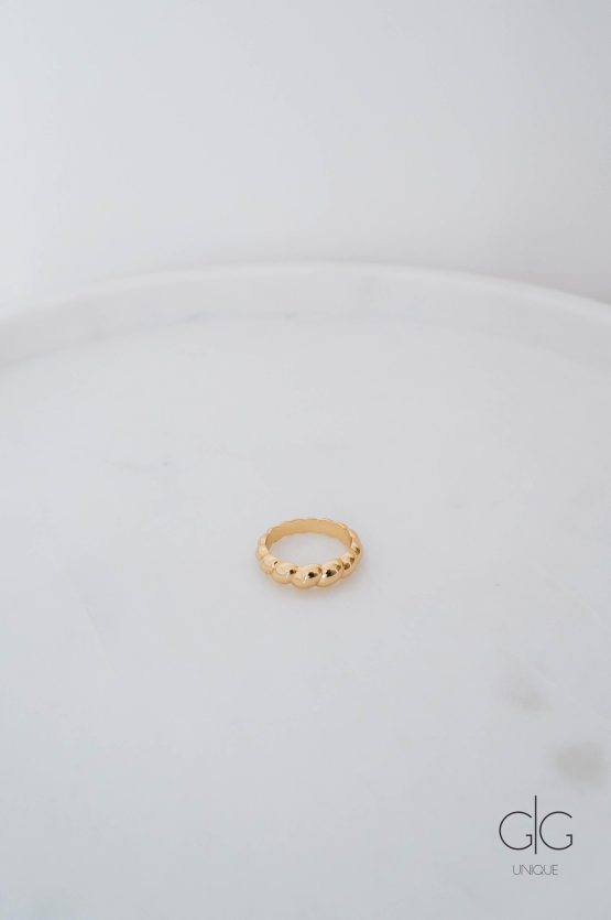 Trendy gold plated ring - GG Unique