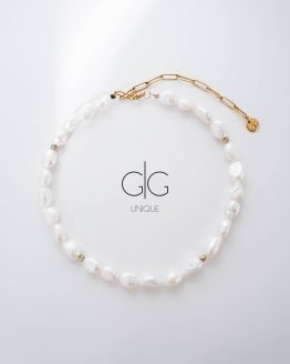 Exclusive line freshwater pearls choker - GG Unique