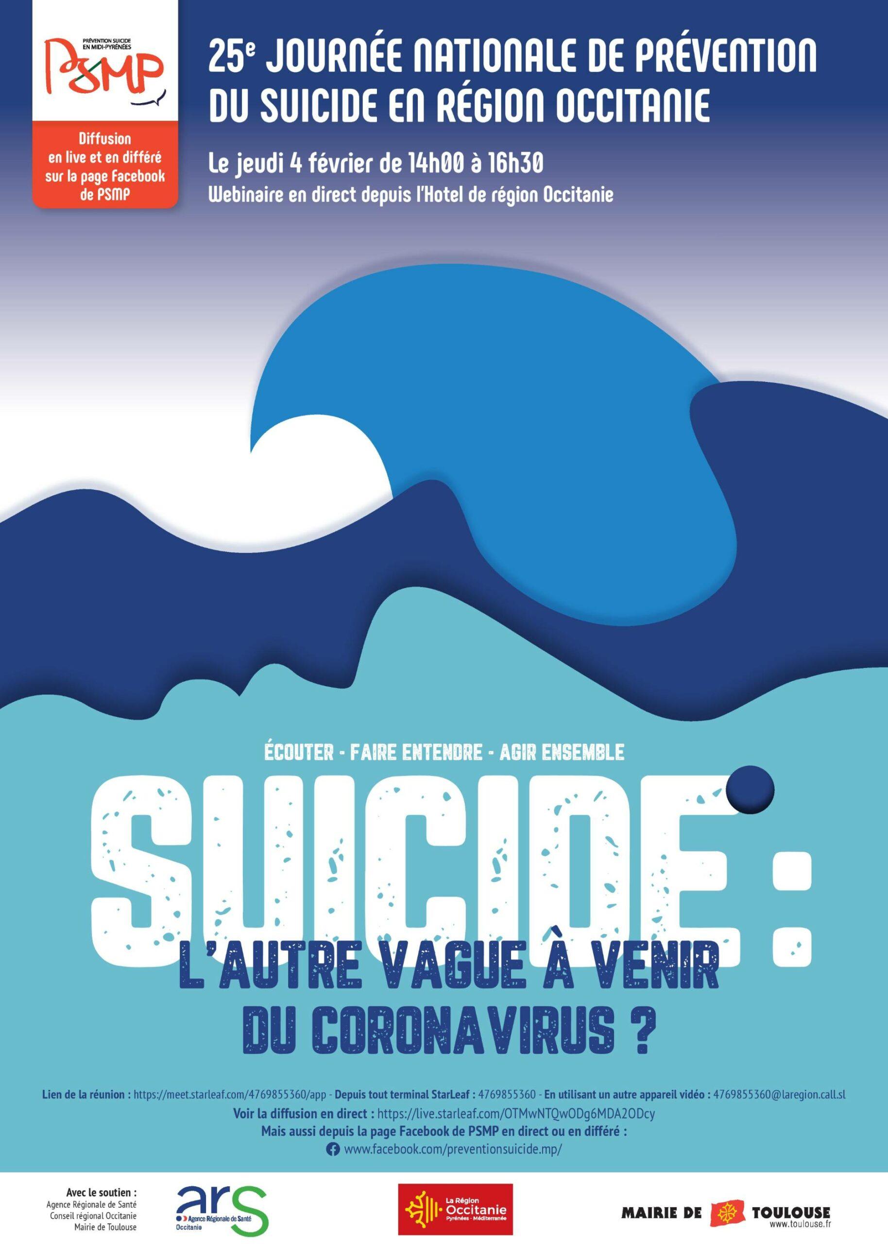 25e Journée Nationale de Prévention du Suicide en région Occitanie