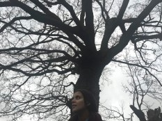 Jana and a tree.